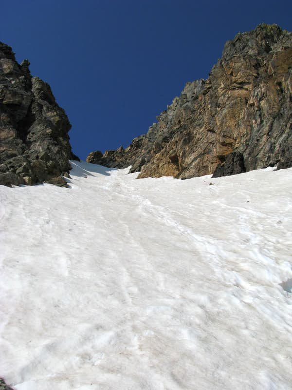 Looking up the chute