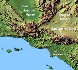 Map of the Transverse Ranges