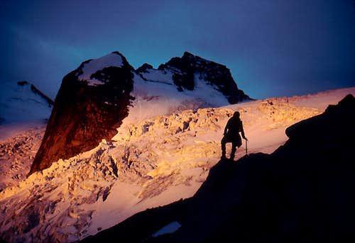 Alpenglow on Bugaboo Glacier