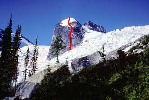 The North Face route on the Hound s Tooth