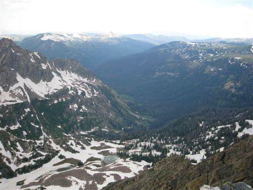 View of Frying Pan Basin from the summit
