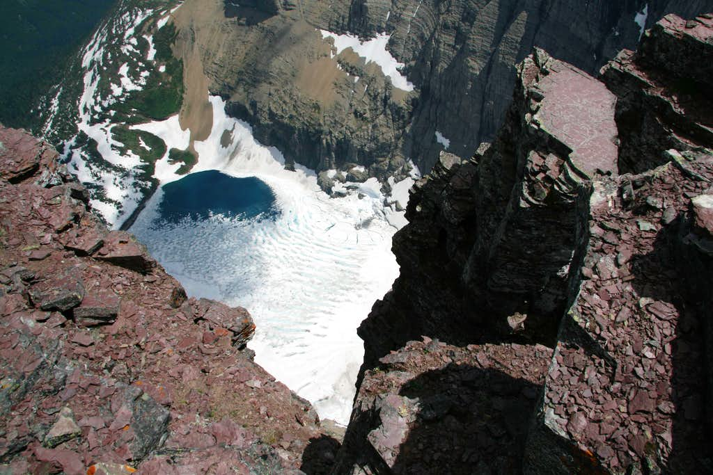 Down to Iceberg Lake