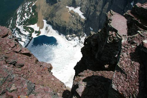 Down to Iceberg Lake