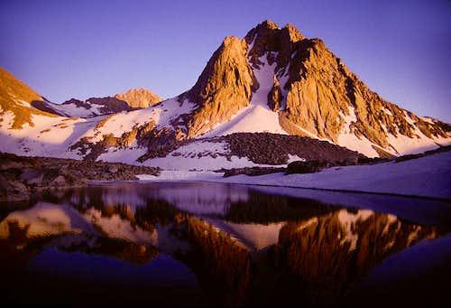 Alpenglow on Mount Huxley