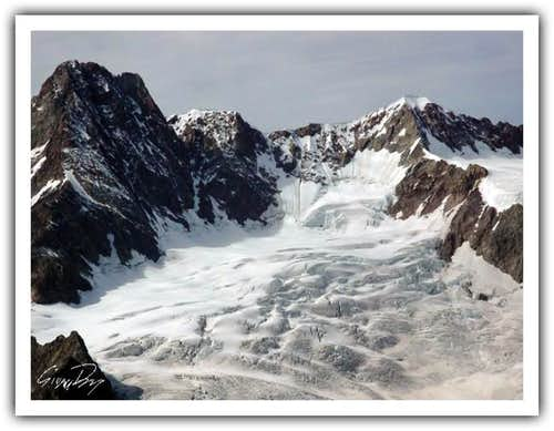 The East face of Aiguille Des...
