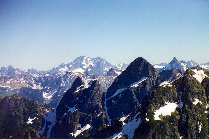 Bonanza Peak as viewed from...