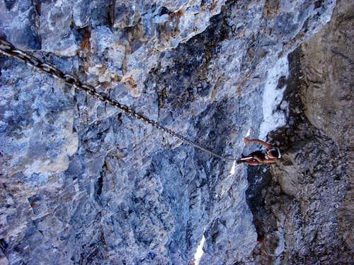 A Climber Ascending the