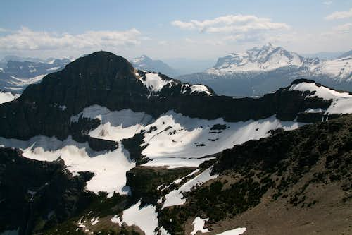 Swiftcurrent Mountain and North Swiftcurrent Glacier