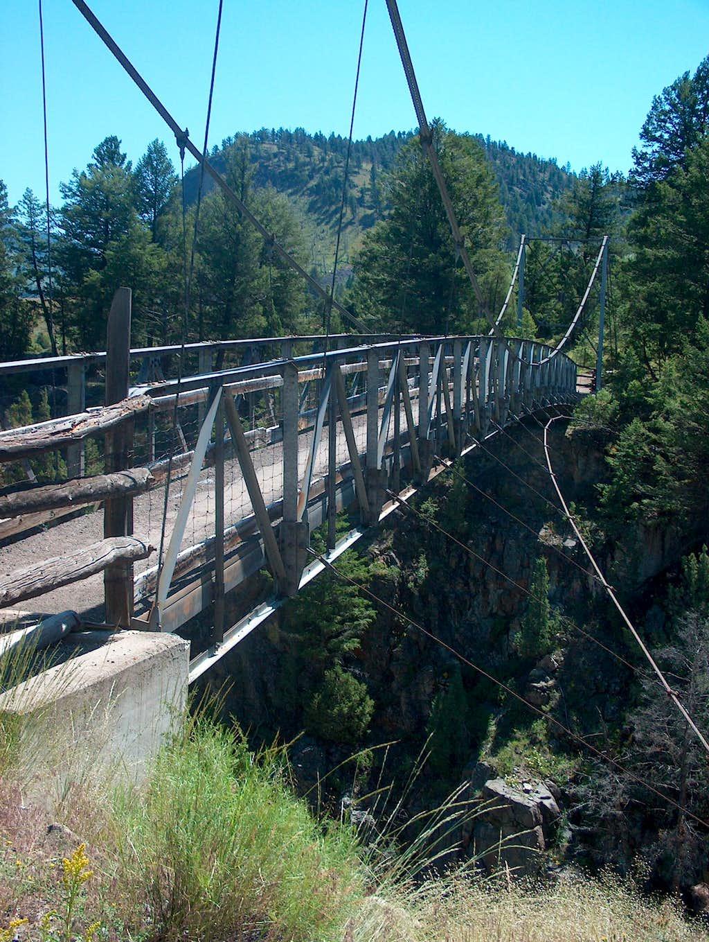 Bridge on Hellroaring Trail