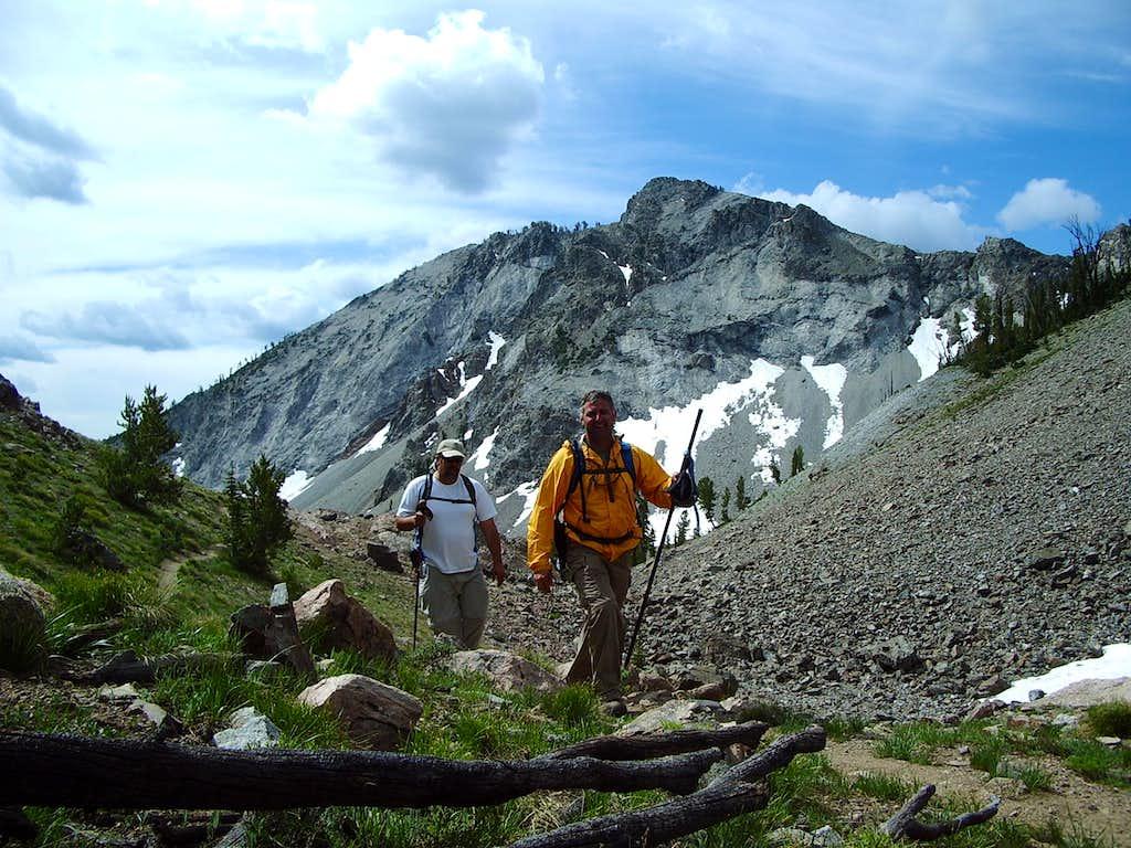 Exploring Prarrie Creek Peak