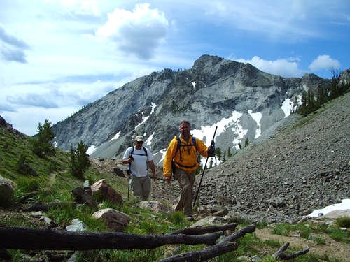 Exploring Prarrie Creek Peak