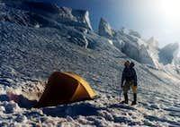 Easton Glacier camp on a...