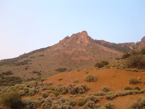 Rock formation above the trailhead