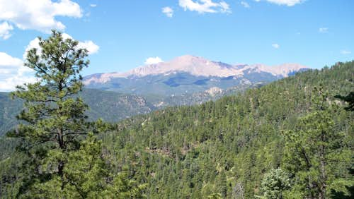 Pike\'s Peak from Waldo Canyon Trail