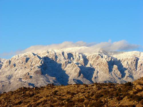 New Sandia Snow