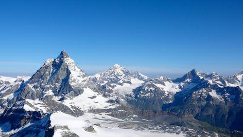 Matterhorn, Dent Blanche and Ober Gabelhorn