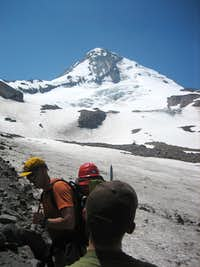Stepping on The Eliot Glacier