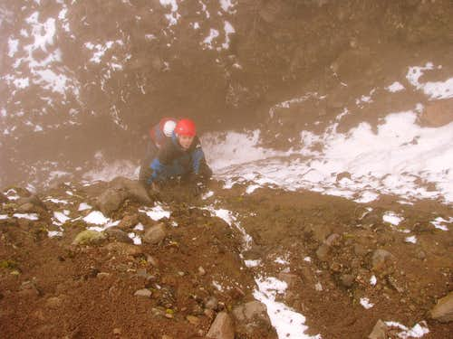 Last scrambles to the summit. Cotacachi.