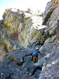 base of the crux
