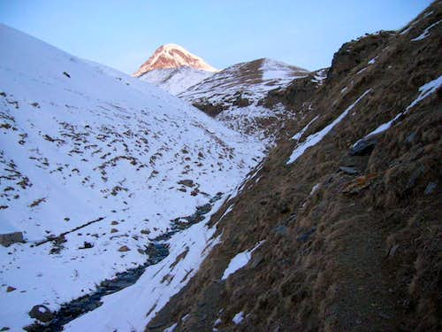 Approach to Kazbek