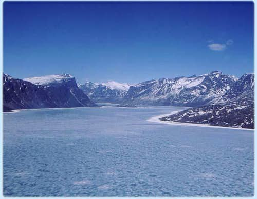 A shot of the Fjord near...