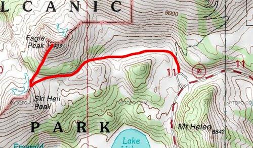 Eagle Peak - West Ridge Route
