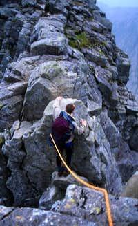 Crossing Tower Gap.July 2002.