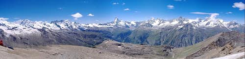 Pennine and Mont Blanc Panoramas