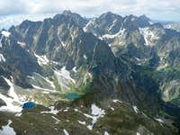 Picturesque peaks and tarns above Bielovodská valley