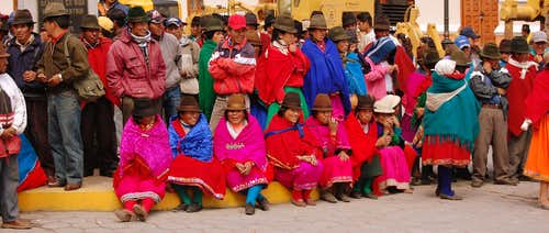 Alausi, native people. Ecuador