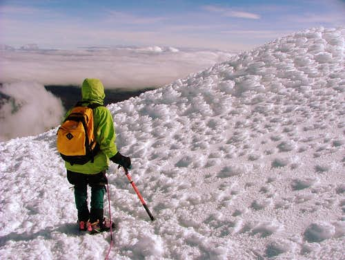 Snow formations in Cotopaxi.