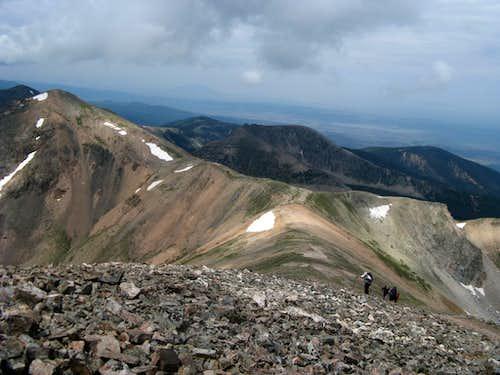 Climbing Vermejo's SW ridge