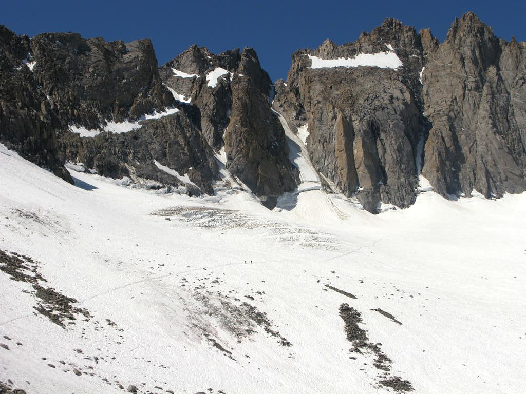 Crossing the Palisade Glacier