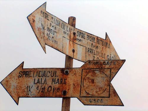 Old trail sign
