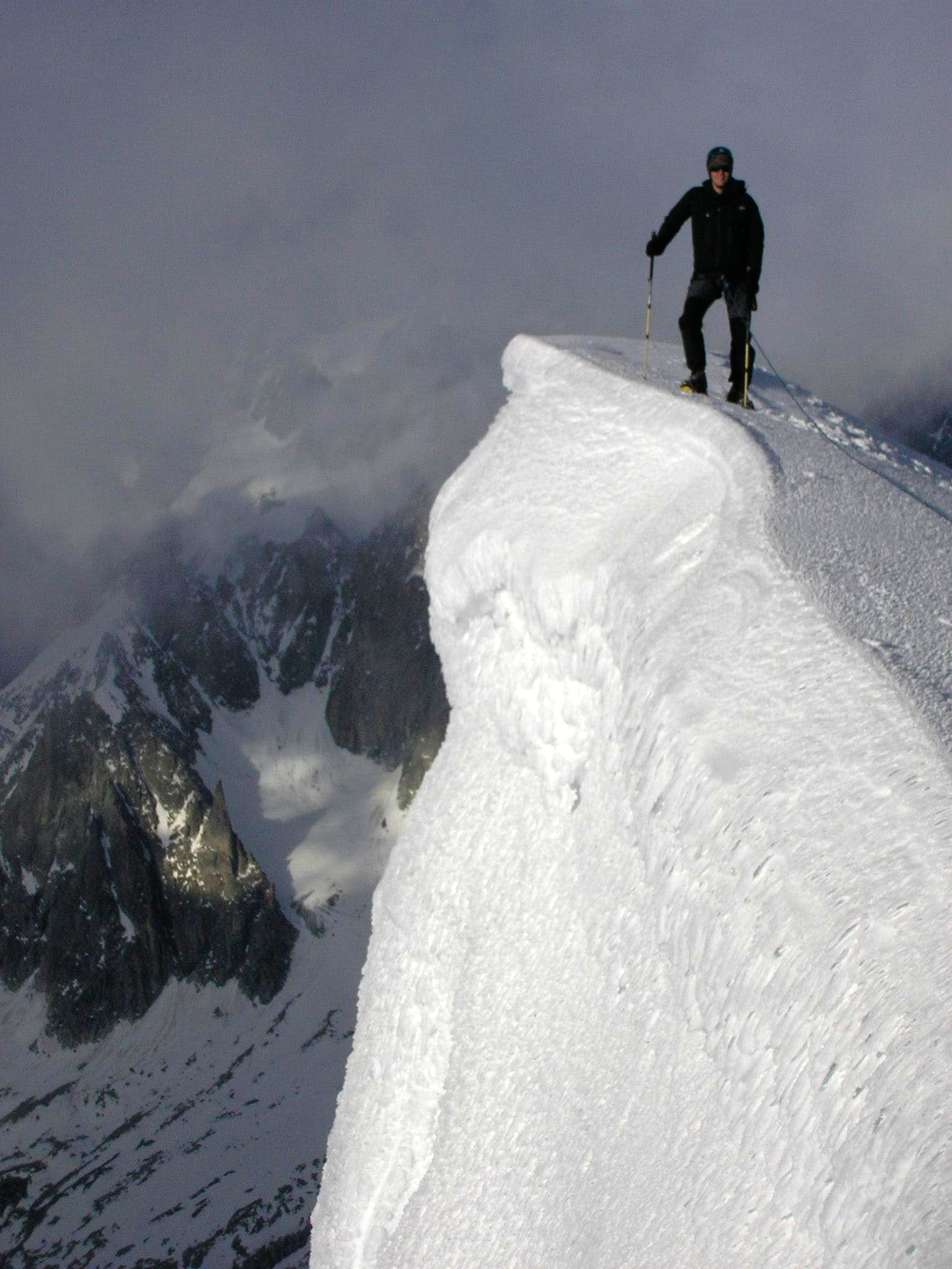 Mont Blanc du Tacul summit posing pictures