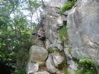 The beginning of the rock face
