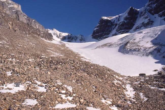 Beside the glacier in 1987....