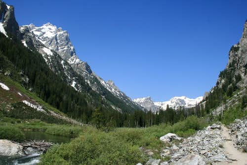 Cascade Canyon with Mount Owen