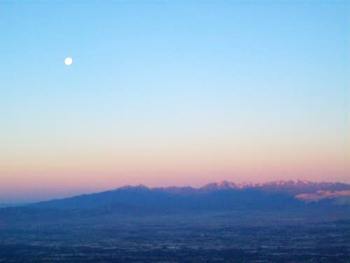 Waning Moon at dawn