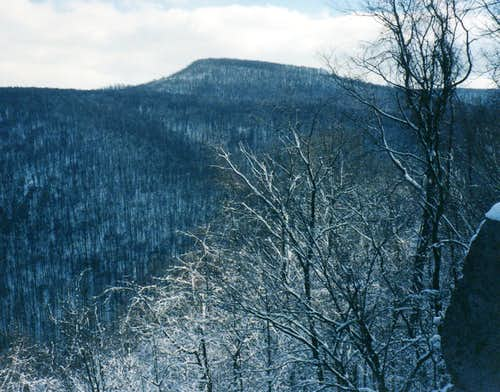Winter view of Sugarloaf Knob