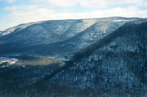 Massive Laurel Hill from Baughman Rock