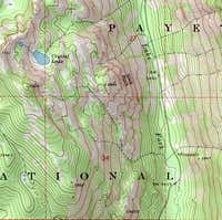 Topo map of the area