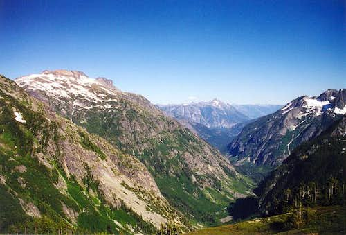 A view east from Cascade Pass...