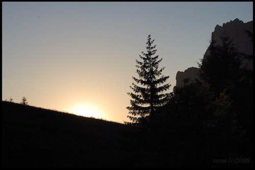 Sunset under Velky Rozsutec
