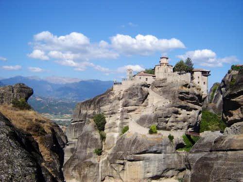 One of the monastiers in Meteora,Greece