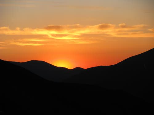 Sunrise from Snoopy\'s Backside Gulch