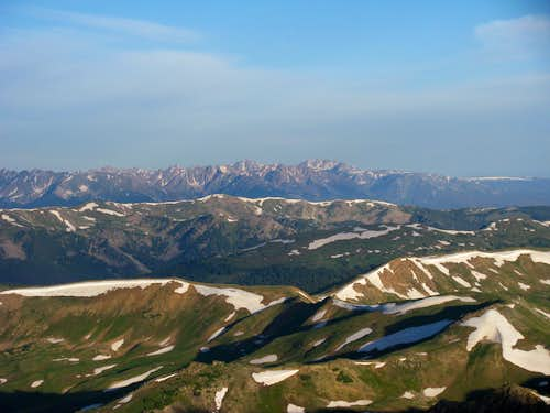 View from the ridge -Gore Range