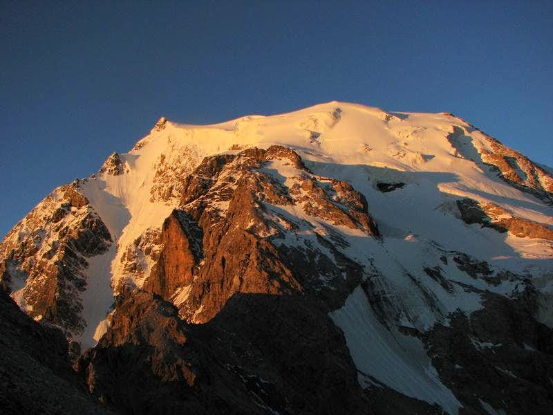 Ortler's north side in sunrise