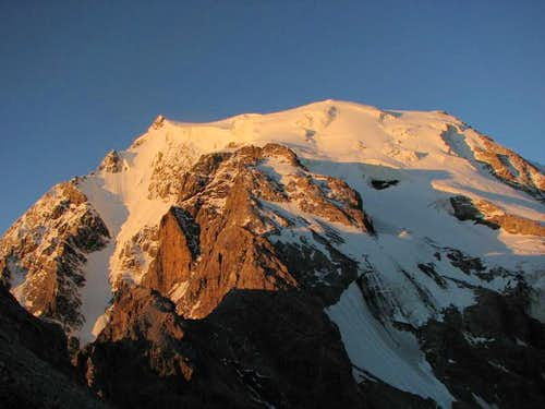 Ortler s north side in sunrise