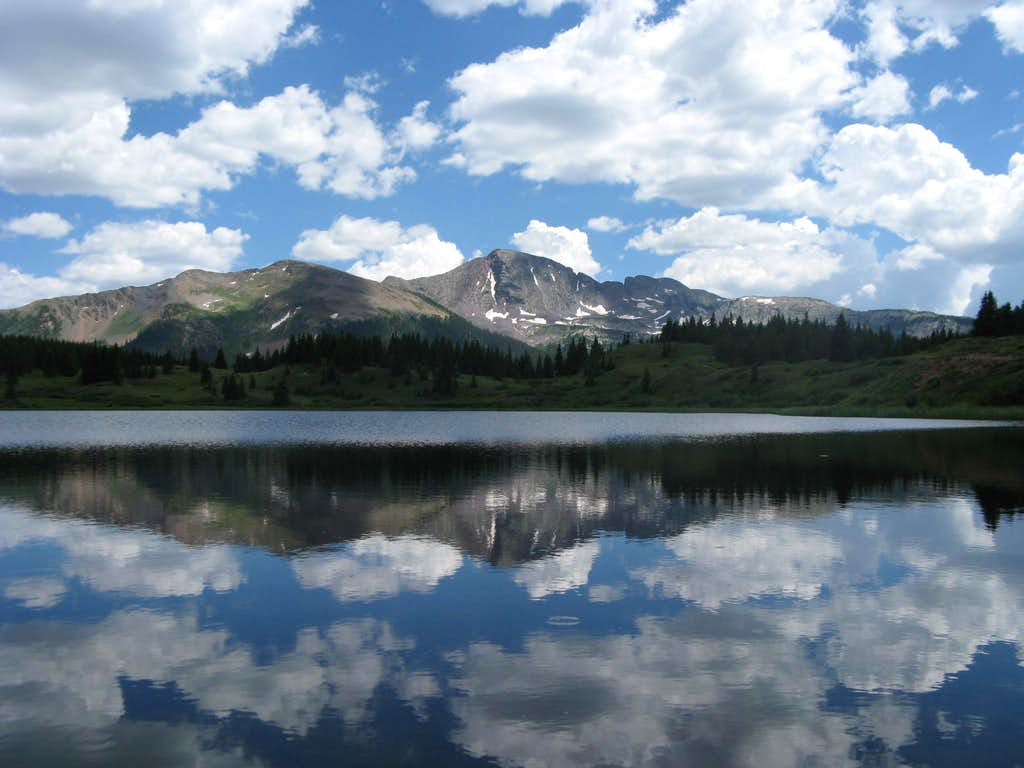 Snowden from Little Molas Lake